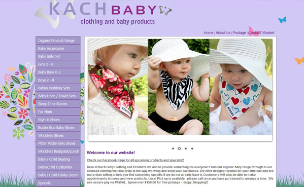 Kach Baby Clothing ecommerce - online shop